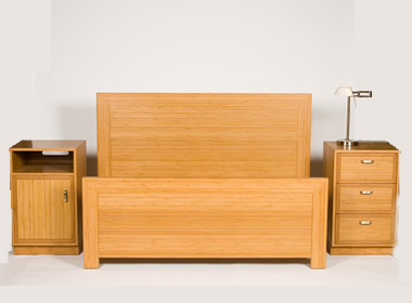 Eco Friendly And Sustainable Bamboo Furniture Including This Bedroom Suite.